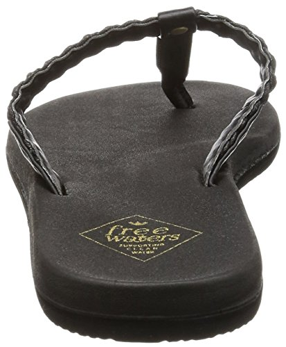 Freewaters Womens Heidi Flip Flop Sandal Black/Metallic pXAVN