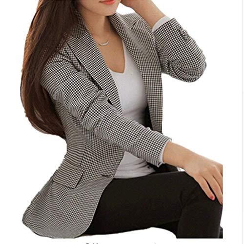 Schwarz Outwear Lunga Alta Da Donna Giacca Manica Qualità Di Chic Casual Fit Tailleur Slim Autunno Moda Giubotto Button Diamante Ovest Bavero qwgRfH