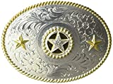 Nocona Men's Shiny Star Oval Buckle, Multi/Color, One Size