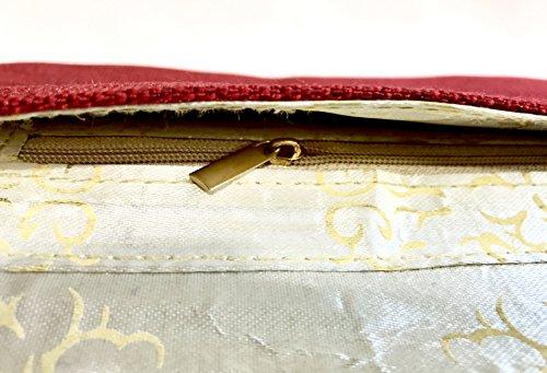 Fashion Red Bag Clutch Handbag Beautiful Amor Purse Jewel Women's Jute Studded Lady PwH4OxE4q
