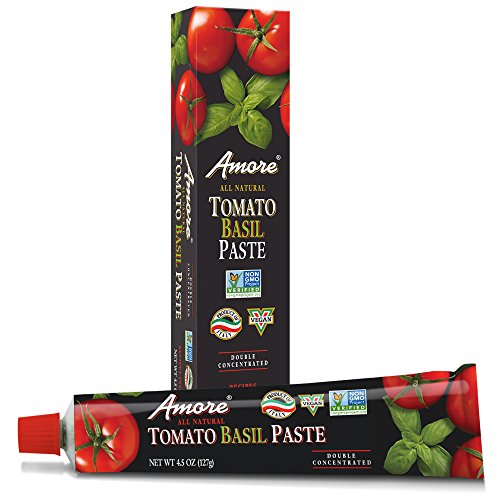Amore All Natural Tomato Basil Paste, 4.5 Ounce (Tomato Paste Brands)