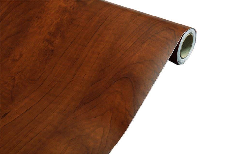 Faux Wood Grain Contact Paper Self Adhesive Shelf Liner Covering for Kitchen Cabinets Doors Drawers Countertop Arts and Crafts 23.5x169 Inch F&U