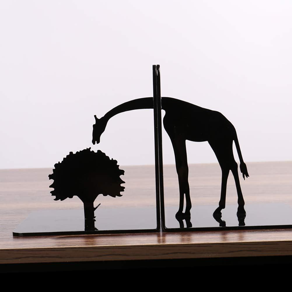 Creativo Jirafa Sujetalibros,Único Sujetalibros Black