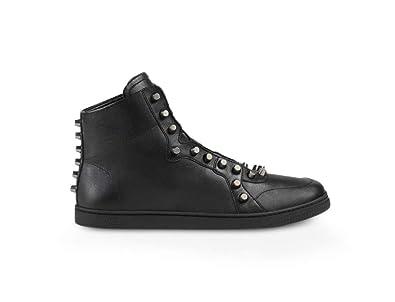 2ea9bb9d81e Amazon.com  Gucci Men s Studded Nappa Leather High-top Sneakers ...