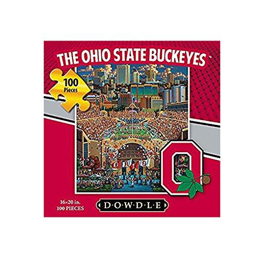 Dowdle Folk Art Ohio State Buckeyes Puzzle (100 Piece)
