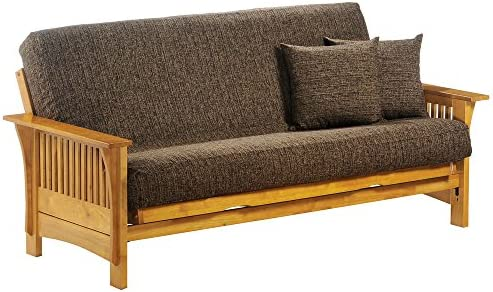 Night Day Furniture Autumn Full Futon Frame in Honey Oak Finish Honey Oak