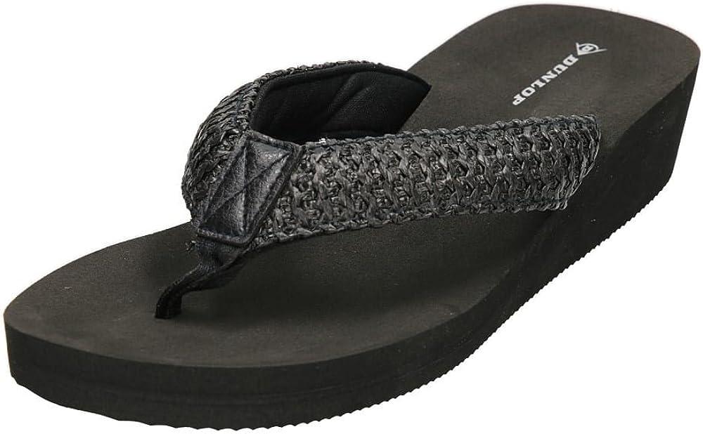 Dunlop Mujer bajo cu/ña Slip On Toe Post Sandalias