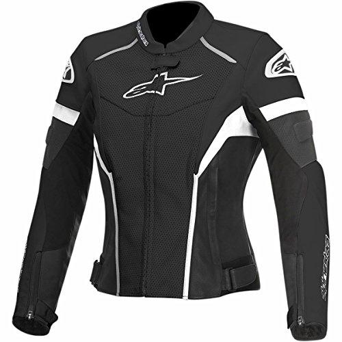 Alpinestars GP Plus R Perforated Women's Street Motorcycle Jackets - Black/White / 38
