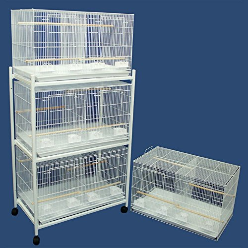 Four Medium Bird Breeding Cages with One 3 Tier Stand
