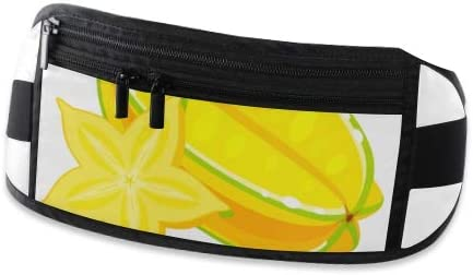 Travel Waist Pack,travel Pocket With Adjustable Belt Summer Tropical Fruits Healthy Lifestyle Carambola Running Lumbar Pack For Travel Outdoor Spor