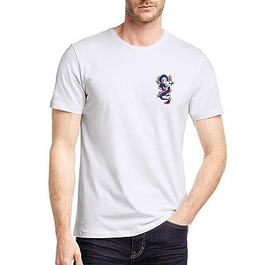 SUDADY Camisetas para Hombre, Elemento dragón Impreso Manga Corta ...