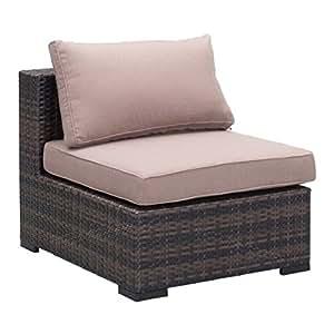 brika hogar al aire libre medio silla en marrón