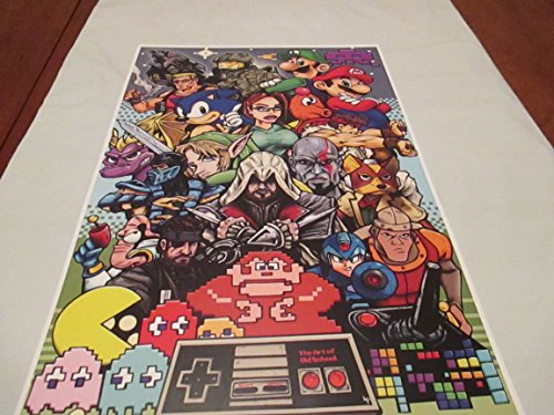 "Old School Video Games Color !! LIMITED EDITION PRINT 11"" By 17"""
