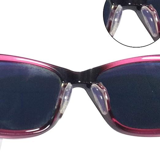 Kuizhiren1 Almohadillas de Nariz de Silicona Antideslizante, Color sólido, para Gafas de Sol, Gafas, Silicona, Blanco, Medium
