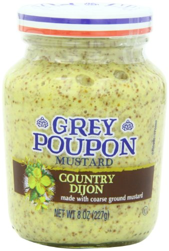 Grey Poupon Country Dijon Mustard, 8 ounce Jar