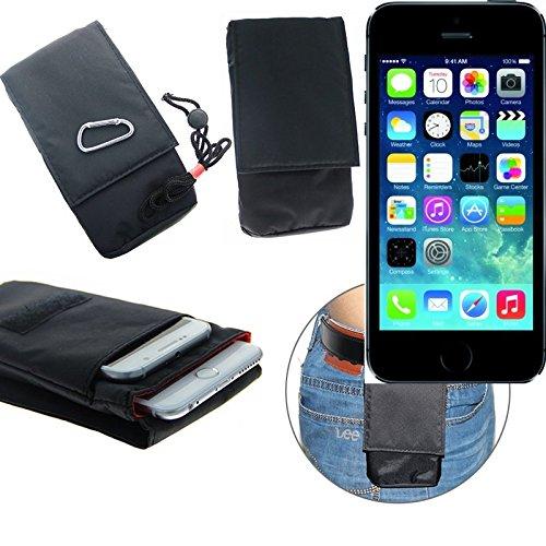 K-S-Trade(TM) Gürteltasche / Holster, Brusttasche Brustbeutel für Apple iPhone 5s, schwarz. Travel Bag, Travel-Case vertikal. Schutz vor Diebstahl / Raub! (Wir zahlen Steuern in Deutschland!)