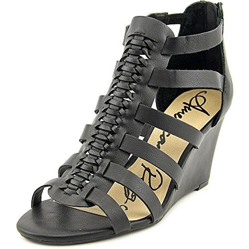 American Rag Womens Kyle Open Toe Ankle Strap Wedge Pumps Black jTPzIx9J