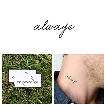 37fd006a7 Amazon.com : ttify Always Temporary Tattoo - Forever Yours (Set of 2) -  Other Styles Available - Fashionable Temporary Tattoos - Long Lasting and  Waterproof ...