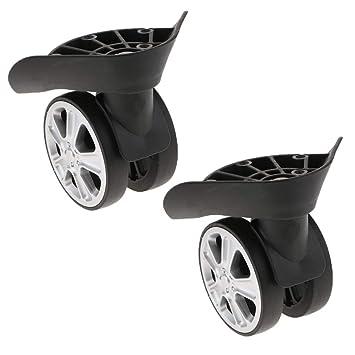 perfk Premium Ruedas Giratorias de Plástico y Metal para Maletas Repuestos de Recambio: Amazon.es: Electrónica