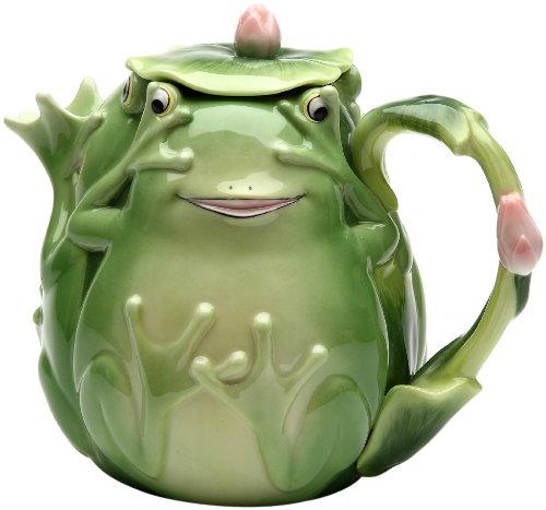 (Appletree 5-1/4-Inch Fairy Frog Porcelain Teapot)