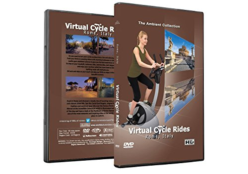 Virtual Cycle Rides DVD - Rome, Italy - for Indoor Cycling, Treadmill and Jogging Workouts - Cardio Walk Treadmill