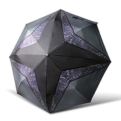 Paraguas plegable automatico Mujer niño Hombre an- Parasol Plegables Manual Tres - Protección UV plástica