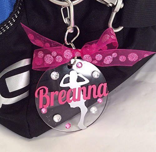 Smiles Name Tags - Jazz Dance Bag Tag Personalized with Your Name and Colors