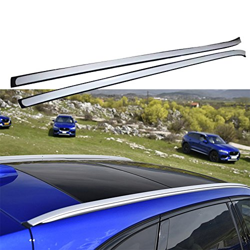 Roof Rail For Jaguar F-Pace fpace 2016 2017 2018 Baggage Luggage Roof Rack Rail by Kingcher