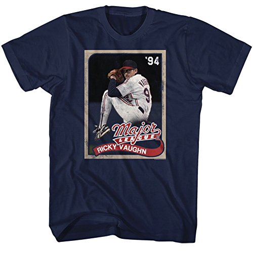 American Classics Major League Sports Comedy Baseball Movie Cards Navy Adult T-Shirt Tee ()