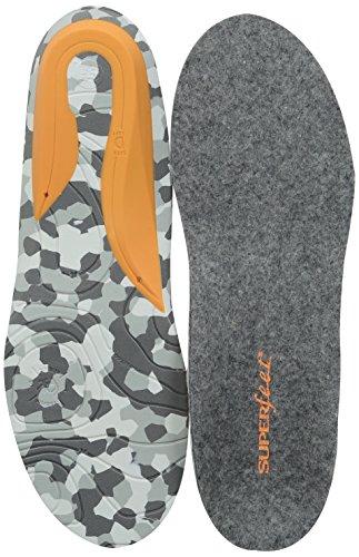 Superfeet Hombres Hunt Warmth & Comfort Plantillas De Caza Premium Felt Grey