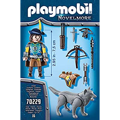 PLAYMOBIL 70229 Novelmore Knights Crossbowman with Wolf: Toys & Games