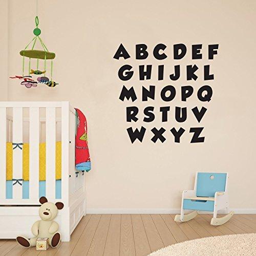 Buy alphabet wall stickers black BEST VALUE, Top Picks Updated + BONUS