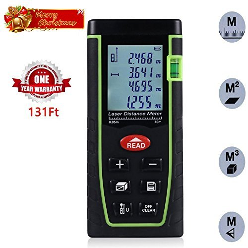 Acekool Laser Measure 131 Feet ,Laser Distance Measure with Single Distance and Continuous Measurement,Area and Volume Measurement,Range Finder with m/in/ft,Laser Measure 0.05 to 40M
