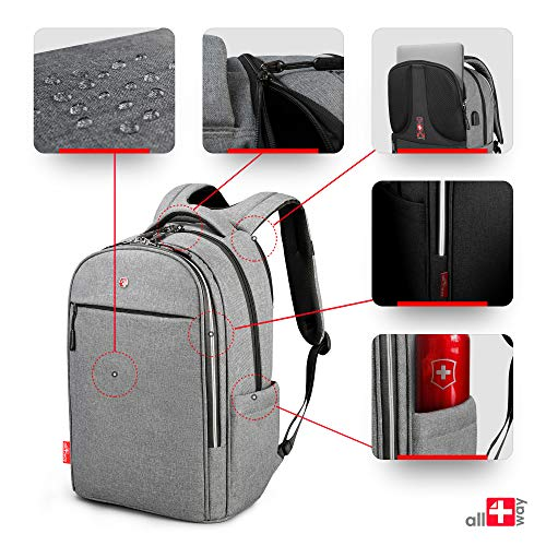 dd79a3c1 Anti Theft Backpack Men Women - RFID Blocking USB Charging Port ...
