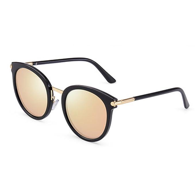 Gafas de sol Sra. Corea cristales polarizados Cara redonda ...