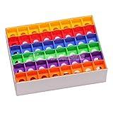 144 Pieces Rainbow Color Billiards Club Snooker Pool Cue Tip Chalk Holder