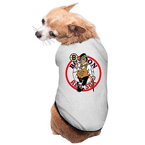 Juice Forus Sox Bruins Patriots Celtics Logo Vintage T-Shirt For Dog M Gray