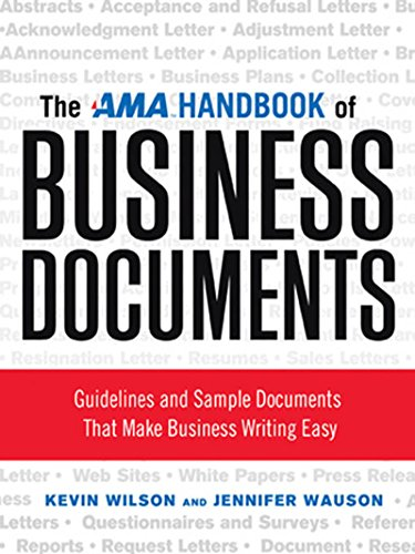 The AMA Handbook of Business Documents: Gudielines and Sample Documents That Make Busienss Writing Easy Easy Handbook