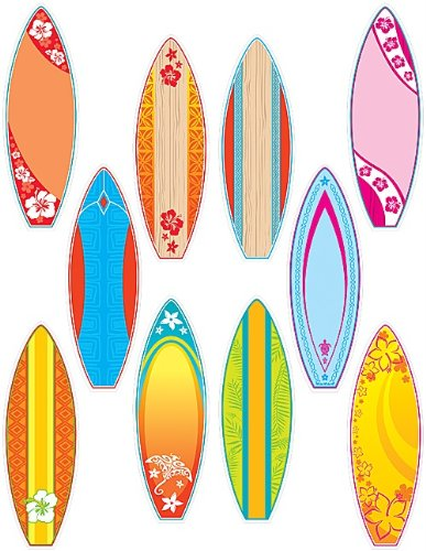 Teacher Created Resources 4586 Surfboards Accents -