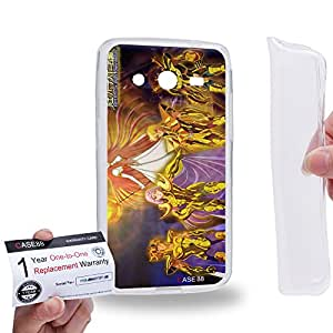 Case88 [Samsung Galaxy Core 2 / II G355H] Gel TPU Carcasa/Funda & Tarjeta de garantía - Saint Seiya Next Dimension 2168
