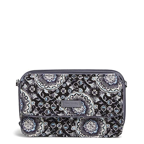 Vera Bradley Iconic RFID All in One Crossbody, Signature Cotton, Charcoal Medallion