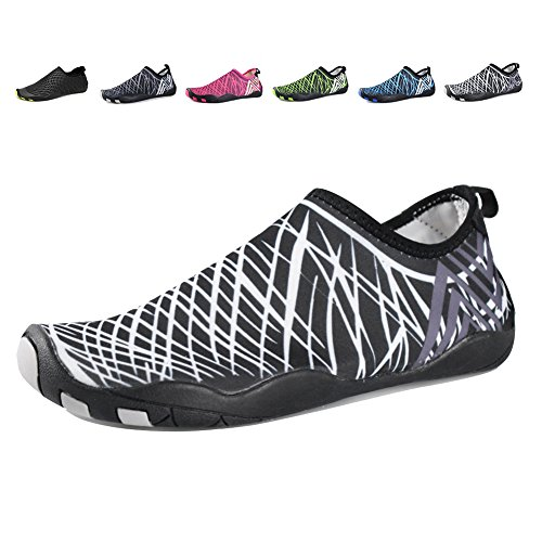 Equick Water Zapatos Aqua Sports Sneakers Slip On Secado Rápido Para Hombres Mujeres Niños Fishing 1b.white