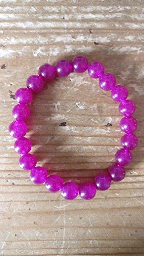 Sapphire Pink Stone Precious (JP_Beads Genuine Pink Sapphire 6mm semi Precious Gemstone Bracelet)