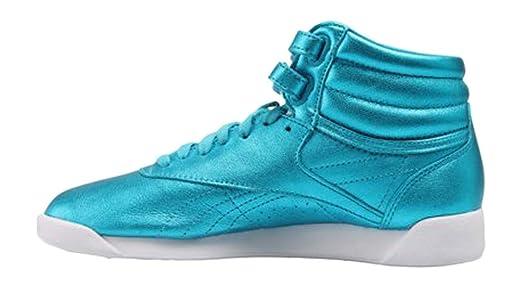 a1dda2cd977 Amazon.com  Reebok Women s Freestyle Hi Metallic Fashion Sneaker  Shoes