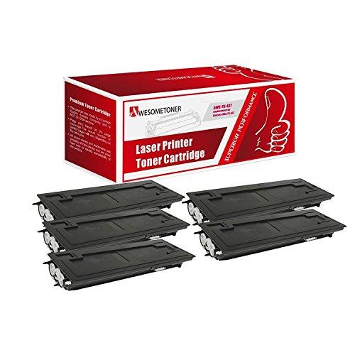 Awesometoner Compatible 5 Pack TK-437 1T02KH0US0 Toner Cartridge For Kyocera-Mita TASKalfa 180 181 220 221 Yield 15000 Pages