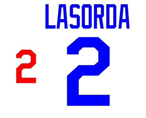 Tommy Lasorda Los Angeles Dodgers Jersey Number Kit Authentic Home