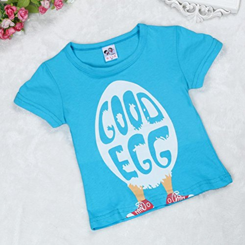 87fd67cac71706 Fineser Baby Boys Clothes Short Sleeve Good Egg Pattern T-Shirt Tops Toddler  Kids Summer