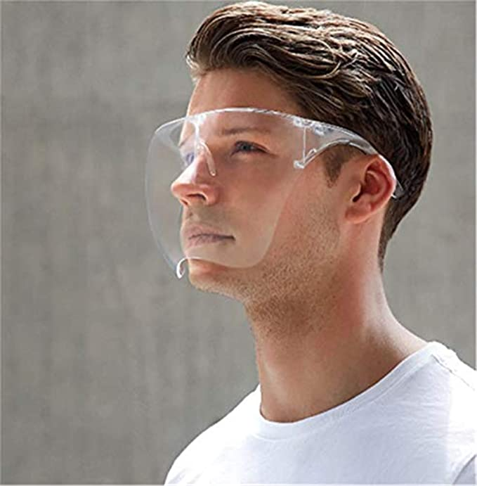 Gafas Protectoras Antivaho Reutilizables KBLLNPBP Blocc Face Shield Tapa De Protecci/ón Integral con Visera Ancha Transparente Que Escupe Lentes Antivaho Cubierta Protectora para La Cara