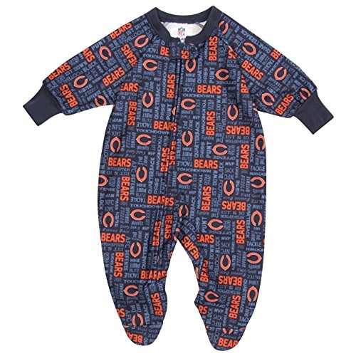 Bears Infant Sleeper - Gerber Chicago Bears Infant Navy Blue Blanket Sleeper Bodysuit
