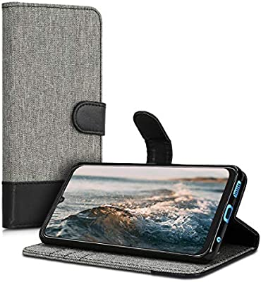 Amazon.com: kwmobile Wallet Case for ZTE Blade V10 - Fabric ...